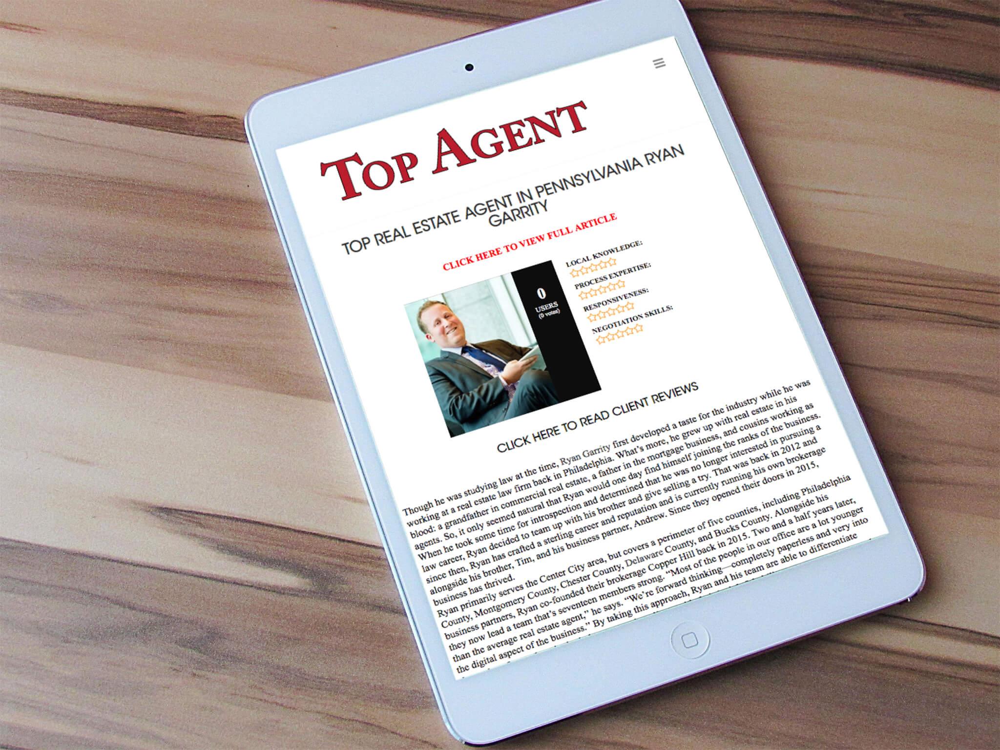 Top Real Estate Agent In Pennsylvania Ryan Garrity